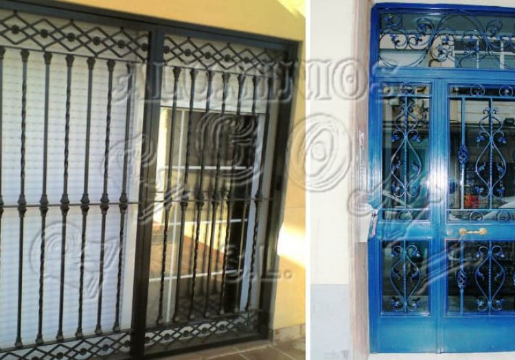 Puertas de hierro tipo cancela y rejas
